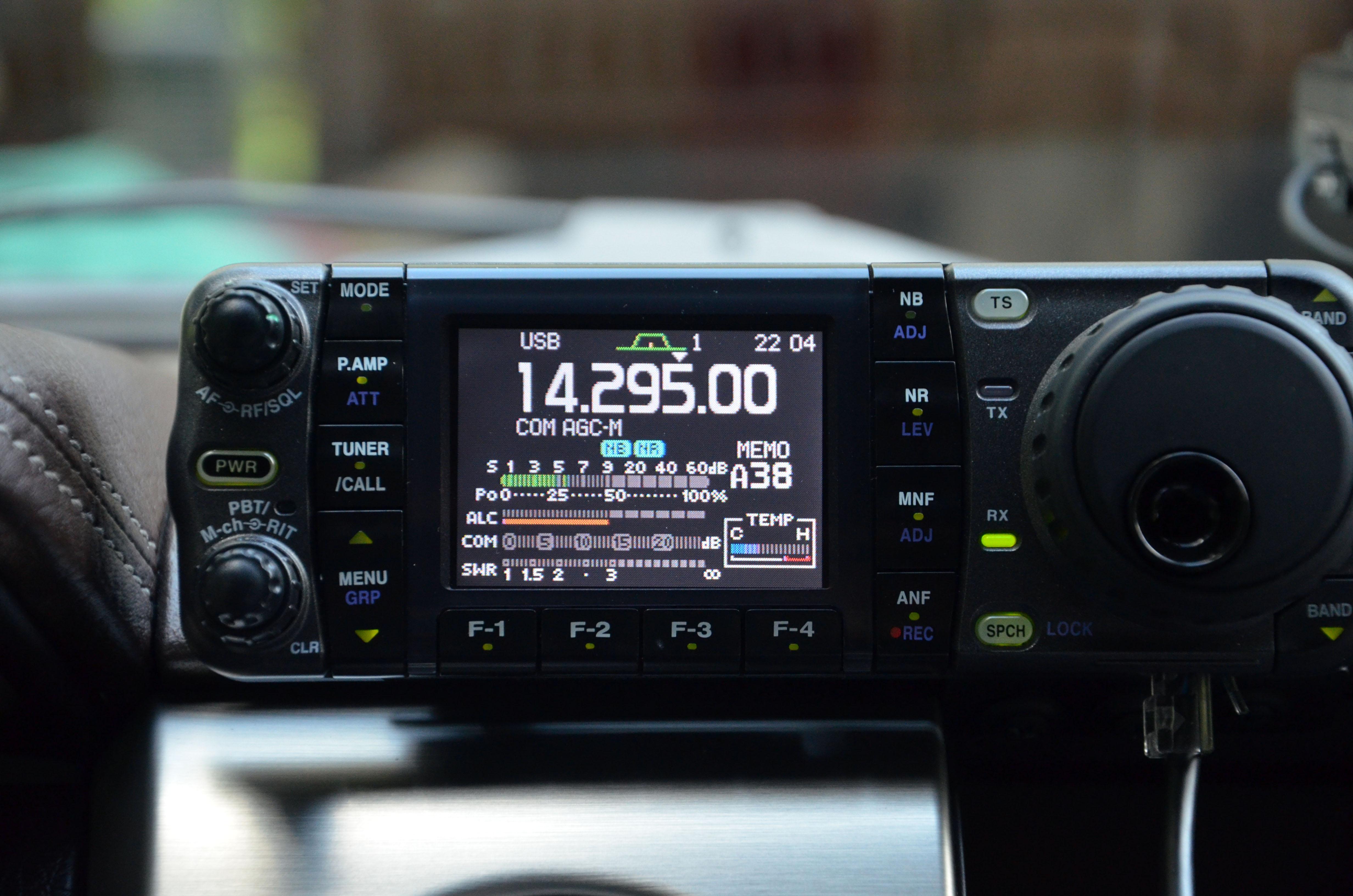 Icom ic 7000 mobile hf radio for Ford s fish shack menu